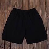 Чоловічі спортивні шорти (тканина-лакоста) FILA, чорного кольору, фото 5