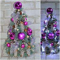 Маленькая декоративная елка к Новому году с лед подсветкой, выс. 42-45 см., 550 гр.
