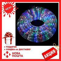 Гирлянда дюралайт | светодиодная лента | овальный шланг 2835, RGB, 20м с контролером на 220в (Микс), фото 1