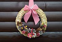 Новогодний, рождественский венок ручной работы, 26 см