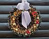 Новогодний, рождественский венок ручной работы, 30 см