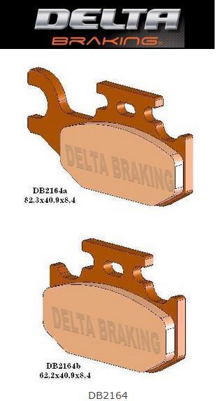 Тормозные колодки Delta Can-Am Outlander renegade 800 (DB 2380QDN)