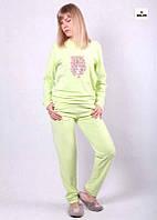 Теплый костюм для дома женский велюровый мятный 42-54р., фото 1