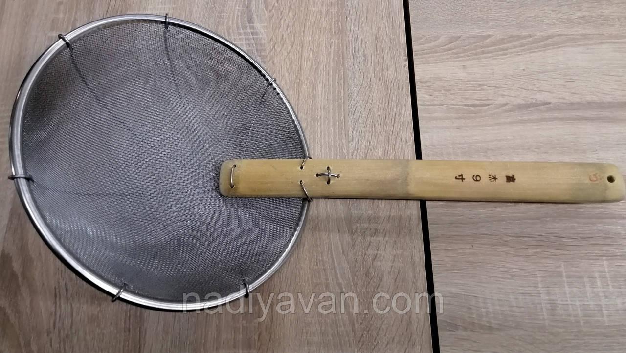 Сито шумовка для фритюра,  пеноотделитель, ложка сито, диаметр 29см
