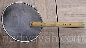Сито шумовка для фритюра,  пеноотделитель, ложка сито, диаметр 29см, фото 2