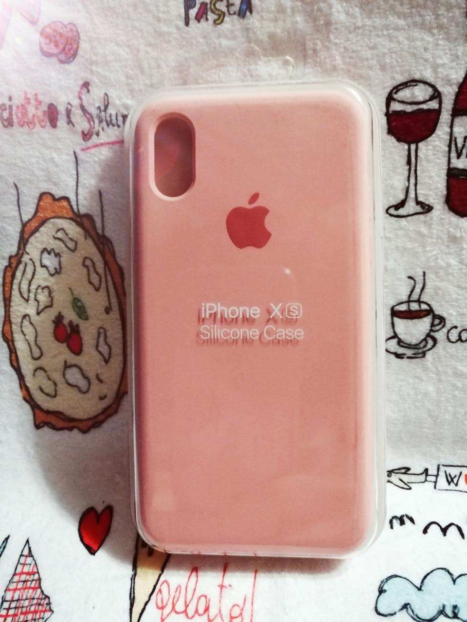 Чехол iPhone X / Xs Soft Touch Silicone Case с микрофиброй внутри (MKX32FE) - Color 10