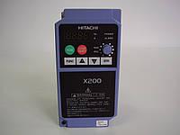 Преобразователь частоты HITACHI X200-002SFEF, 0.2кВт, 1.4A, 220В. Вольт-частотный (скалярный).