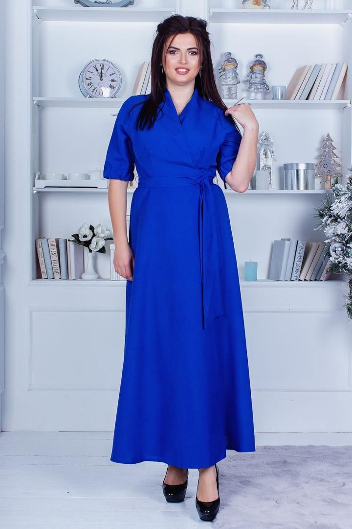 Платье женское нарядное в пол длинное большие размеры 48-52,54-58