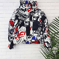 Куртка яркая теплая женская  (холофайбер) 634