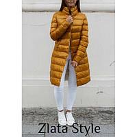 Теплая куртка женская стеганая на кнопках 12477