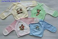 Распашонка на  кнопочках 62р (байка) для новорожденных