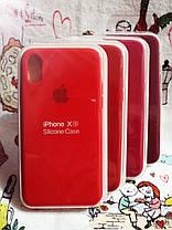 Чехол iPhone X / Xs Soft Touch Silicone Case с микрофиброй внутри (MKX32FE) - Color 15, фото 3