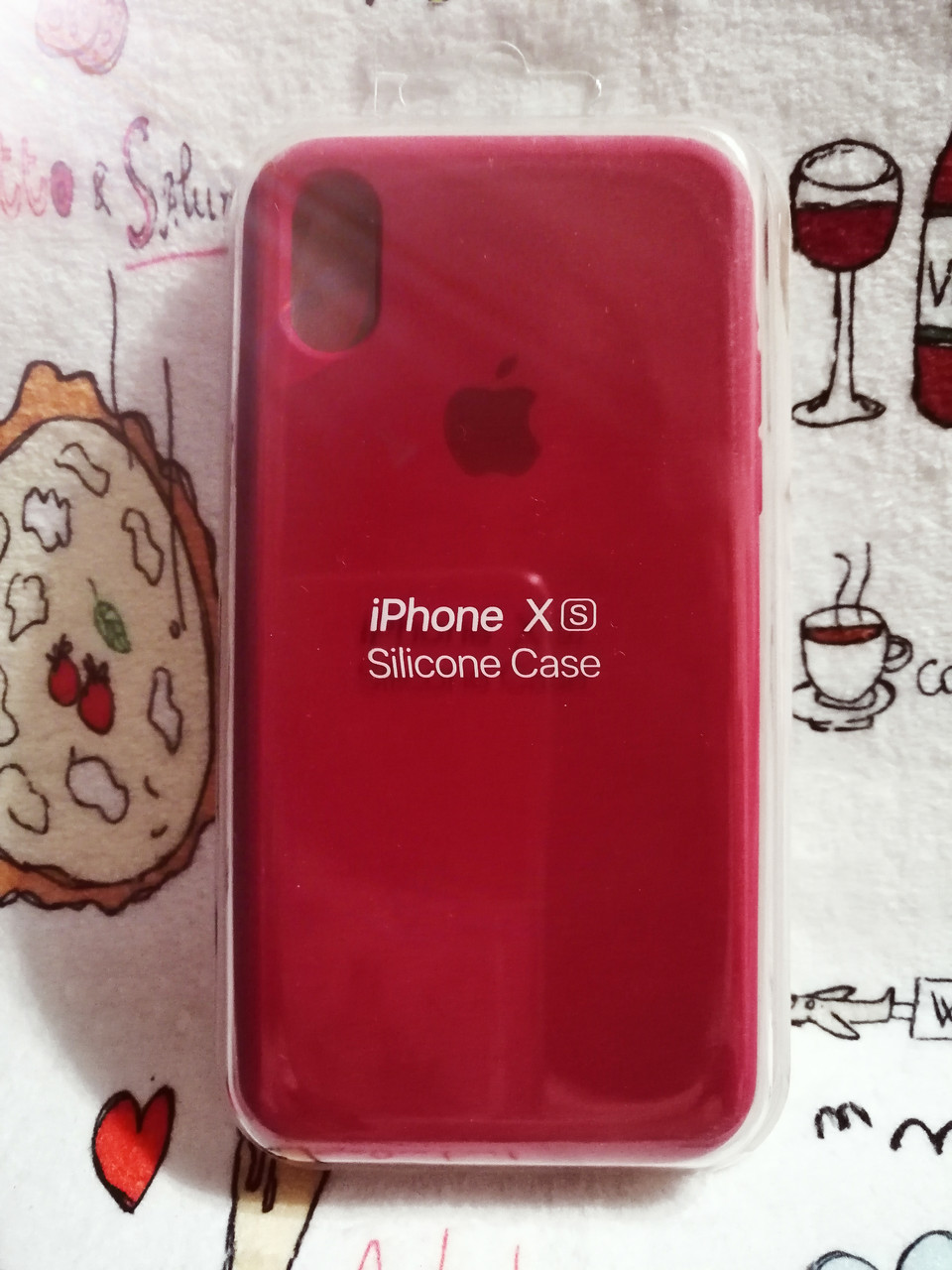 Чехол iPhone X / Xs Soft Touch Silicone Case с микрофиброй внутри (MKX32FE) - Color 15