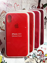 Чехол iPhone X / Xs Soft Touch Silicone Case с микрофиброй внутри (MKX32FE) - Color 16, фото 3