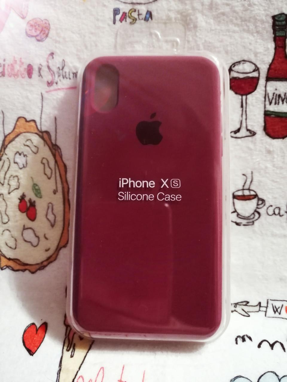 Чехол iPhone X / Xs Soft Touch Silicone Case с микрофиброй внутри (MKX32FE) - Color 16
