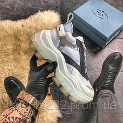 Женские кроссовки Prada (белые)