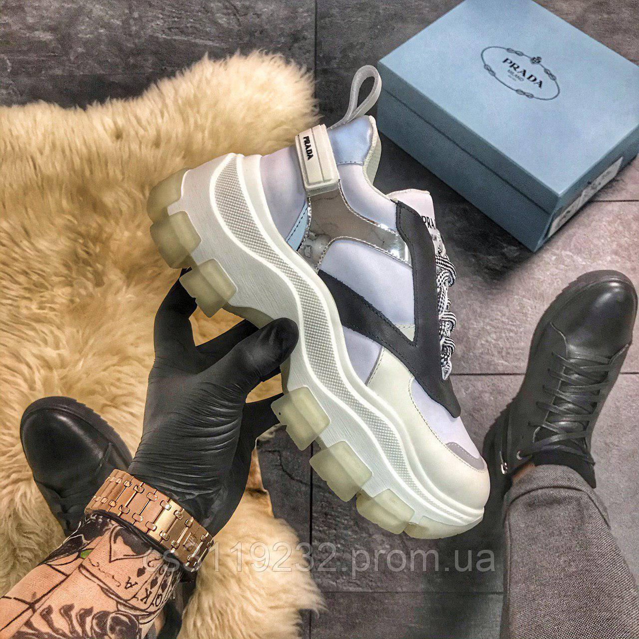 Жіночі кросівки Prada (білі)