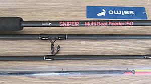 Вудилище фідер. бортове зі змінною довжиною Salmo Sniper MULTI BOAT FEEDER 150  150-180см/150г (3 tips)