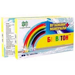 Биовитон - комплекс витаминов и минералов, табл. №30