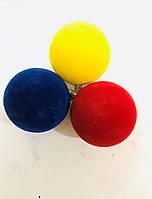 """Ёлочная игрушка шар """"Бархат"""" d=8 см (6 шт.) пластик, цвета в ассортименте"""