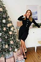 Коктейльное платье свободного кроя чёрное