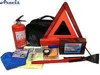 Набор автомобилиста Премиум 12 единиц огнетушитель, аптечка, сумка, жилет, трос, знак