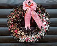 Рождественский венок, Новогодний венок ручной работы, 38 см, фото 1