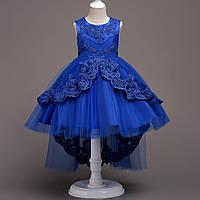 Красивое праздничное платье для девочки Валери цвет электрик