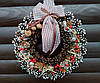 Рождественский венок, Новогодний венок ручной работы, 33 см