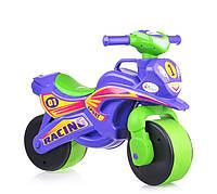 Мотобайк детский пластмассовый для катания Спорт музич. (фіолетово-зелений), арт. 0139/6, Фламинго (Долони)