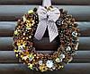 Рождественский венок, Новогодний венок ручной работы, 35 см