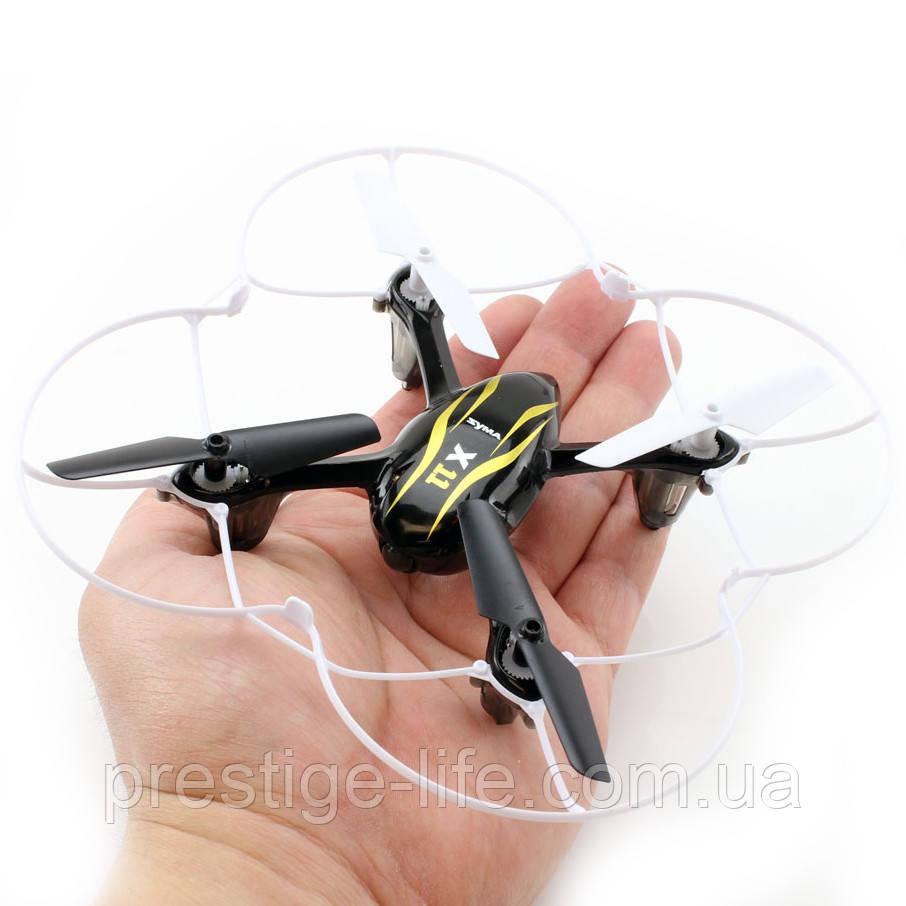 Квадрокоптер Syma X11 с гироскопом USB на аккумуляторе Черный