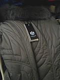 Пальто-пуховик длинное SHENOWA (холлофайбер) с мехом - песец, фото 5