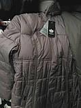 Пальто-пуховик длинное SHENOWA (холлофайбер) с мехом - песец, фото 6