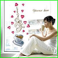 Интерьерная виниловая наклейка на стену Чашка кофе для кухни, кафе, столовой, ресторана декор стикер