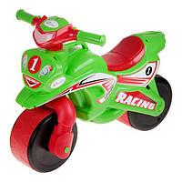Мотобайк детский пластмассовый для катания Спорт музич. (зелено-червоний), арт. 0139/5, Фламинго (Долони)