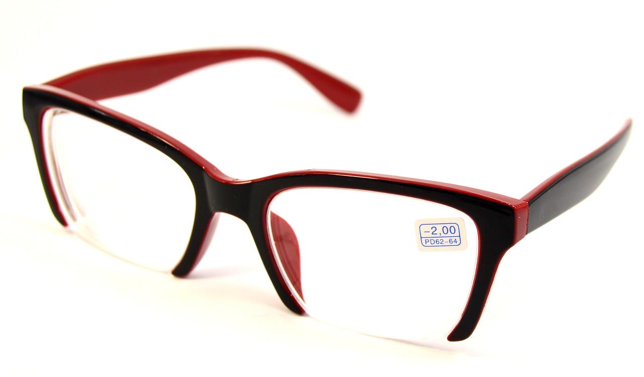 Женские очки лисички для зрения (НМ 2006 ч-к)