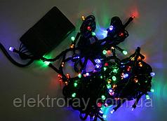 Светодиодная гирдянда 100 LED 9м микс, черный провод