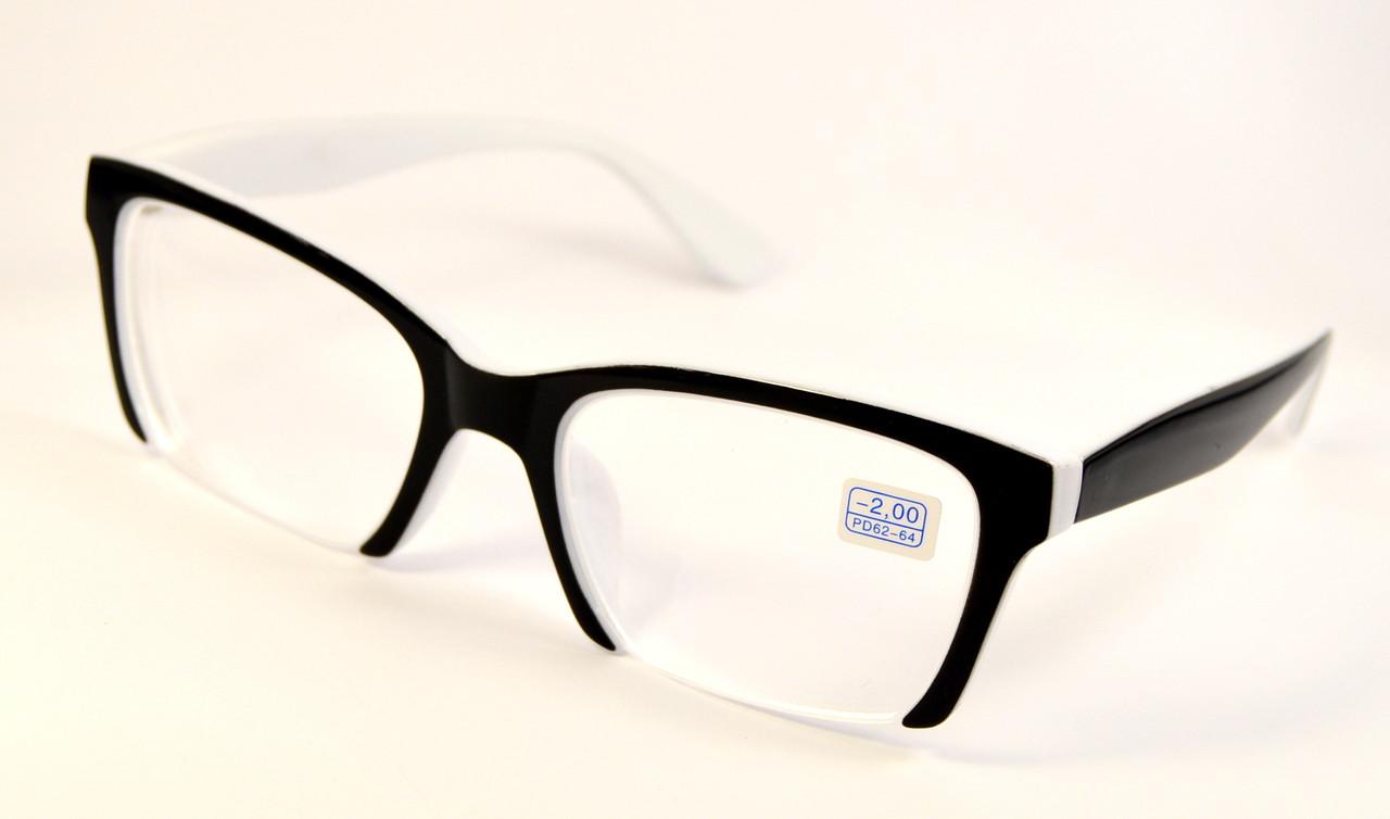 Женские очки лисички для зрения (НМ 2006/225-ч-б)