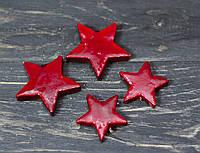 Набор звездочек красных глянцевых 4 шт, фото 1