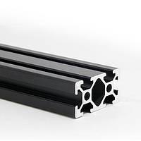 Алюмінієвий профіль 20х40 анадований чорний, порізка в розмір (станочный алюминиевый профиль )