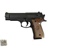 Пистолет игрушечный метал.пластик G.22  с пульками в коробке 15,5*10*3см