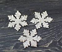Сніжинки з кори берези в покритті 3 см 3 шт, фото 1