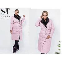 Пальто куртка длинная теплая 1059-4 р 42-52