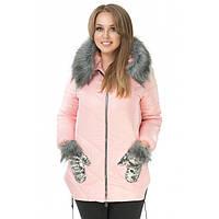 """Зимнее пальто женское большие размеры  """"Варежка"""" бат"""