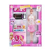 Кукла Barbie  с кухонным набором Beauty Kitchen микроволновка
