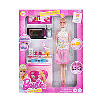 Кукла с кухонным набором Beauty Kitchen микроволновка