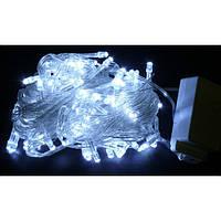 Гирлянда Диод 100LED 9м. Белый (холодный), Силиконовый провод, фото 1