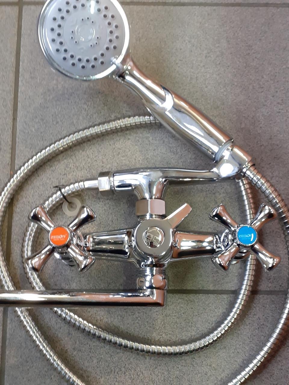 Смеситель ZEGOR ванная длинный DML7-B827