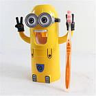 """[ОПТ] Дозатор зубної пасти """"Міньйон"""" з тримачем зубних щіток. Диспенсер для зубної пасти """"Міньйон"""", фото 3"""